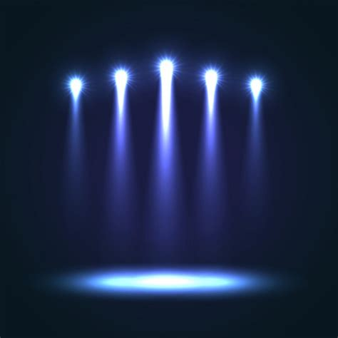 Stage Background Blue Stage Background Vector Free