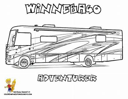 Coloring Rv Camper Pages Truck Printable Recreational
