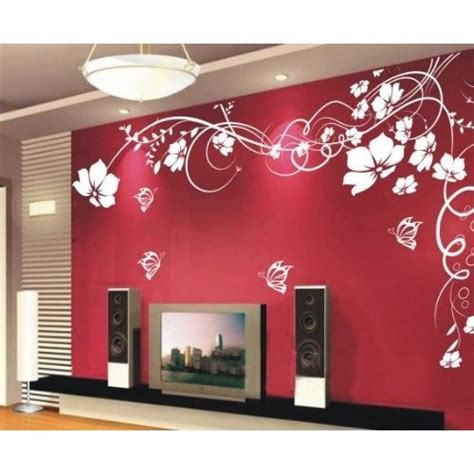 wall sticker wall decor flowers  butterfly  vines
