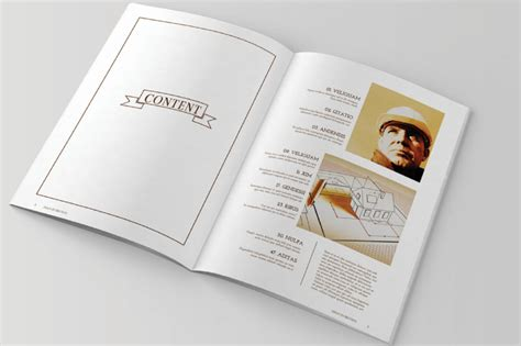 magazine template word format  business corporate