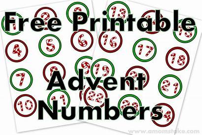 Advent Numbers Calendar Printable Christmas Printables Number