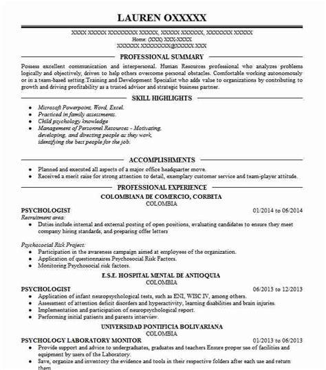 Psychology Resume Template by Psychology Resume Dandilyonfluff