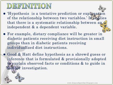 Problem statement hypothesis