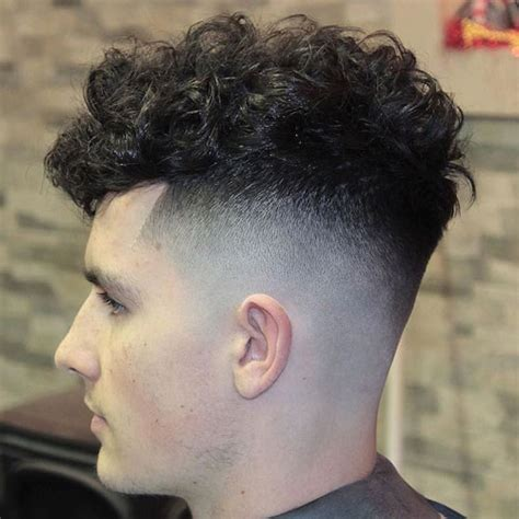 curly hair fade mens hairstyles haircuts
