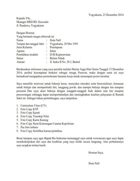 Contoh Kepala Surat Lamaran Kerja by Contoh Surat Lamaran Kerja Operator Produksi Fontoh