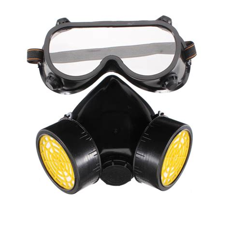 Double Gas Mask Protection Filter Chemical Gas Respirator