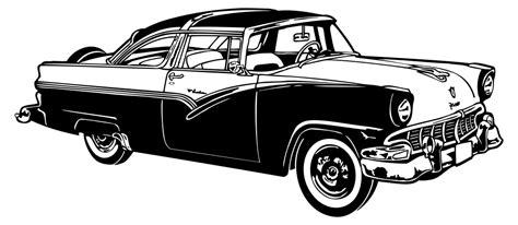 Classic American Car Silhouette