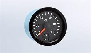 Vision Black 100 Psi Mechanical Oil Pressure Gauge  12v