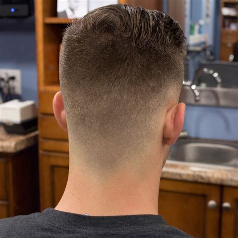 johns military rockabilly haircut     andis  outliner     head