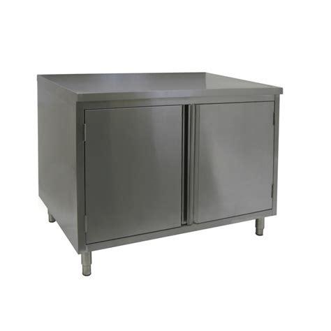 flat top enclosed work table hinged doors gsw