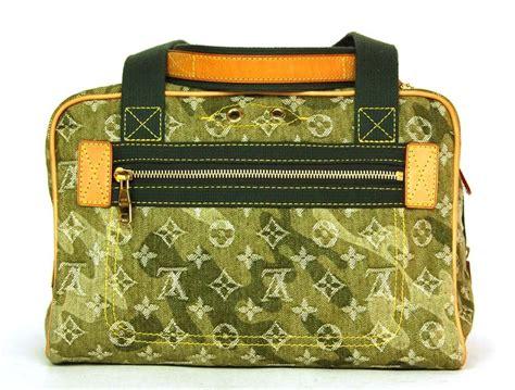 louis vuitton  edition green denim murakami monogramoflage lys tote bag  stdibs