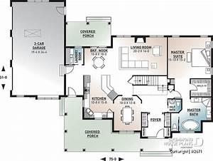 House plan 4 bedrooms, 2.5 bathrooms, garage, 2671 ...