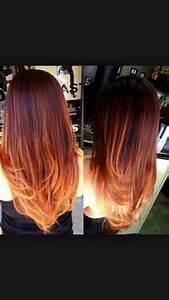Ombré Hair Auburn : auburn red ombre hair color ginger pinterest auburn red ombre and red ~ Dode.kayakingforconservation.com Idées de Décoration