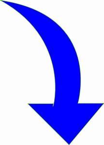 Curved-arrow-bright-blue Clip Art at Clker.com - vector ...