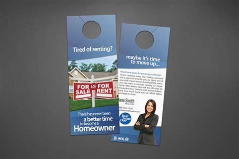 real estate door hangers real estate one door hangers realty cards printing
