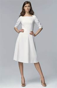 robes elegantes robe mi longue manches longues With robe mi longue blanche