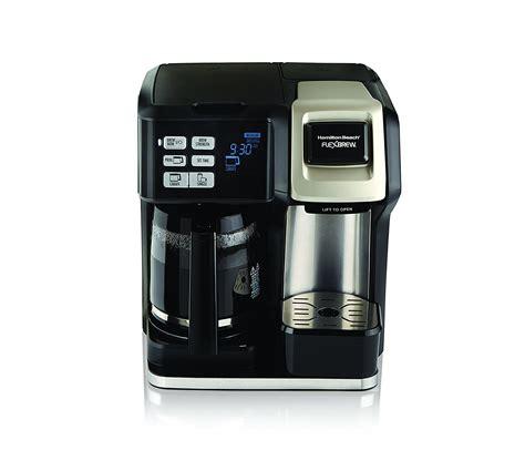 Coffee & espresso combo brewers. Hamilton Beach Flexbrew 2-Way Brewer Programmable Coffee ...