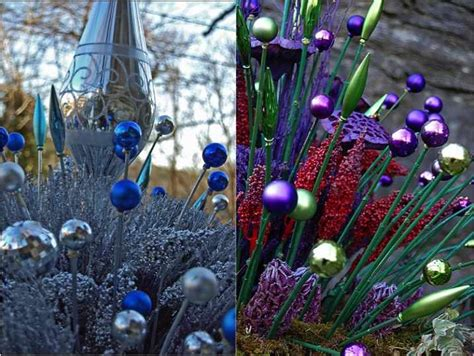 Diy Christmas Ornament Garden Stakes