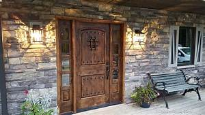 Popular, Exterior, Rustic, Doors, With, 2, Sidelights