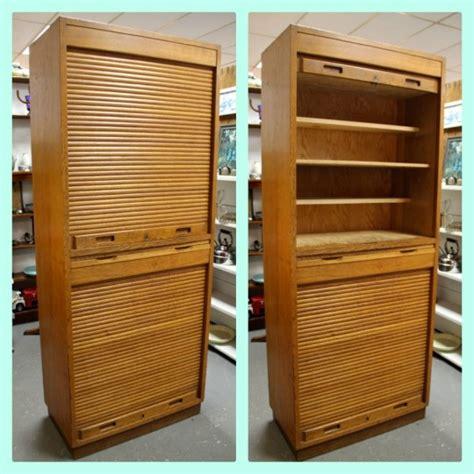 found in ithaca 187 mid century russian roll top door cabinet