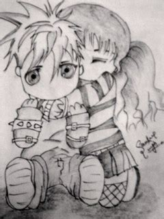 emo cartoon love drawings sketches couples cute litle pups