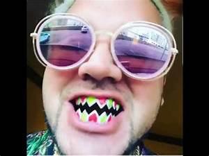 Riff raff Has diamond tri-color Fang Teeth Giving Him A ...