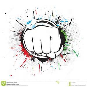 HandPunch Clip Art
