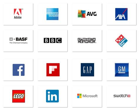 Famous Brands With Square Logos