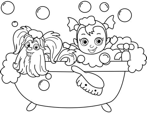 wolfie  nosy  vampirina coloring pages