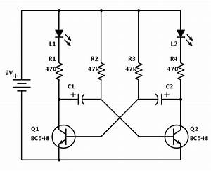 led running circuit astable multivibrator techie feeds With led hobby circuit