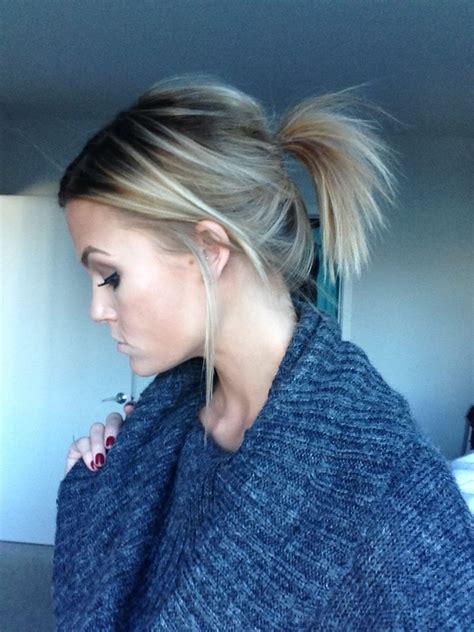 messy ponytail hair   ponytail hairstyles short