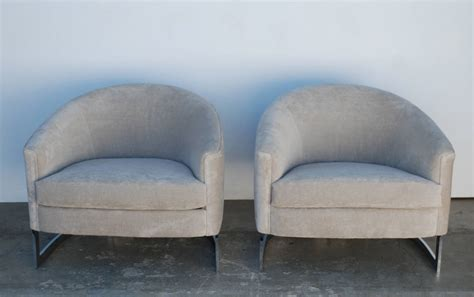 milo baughman curved t back club chairs at 1stdibs