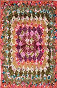 Concentric Diamonds Patchwork Quilt