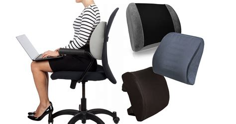 Best Lumbar Support Cushion For Office Chair Outdoor Folding Chair High End Dining Chairs Wedding Rental With Attached Desk Childrens Arms 2 Cushions Kmart White Arm Storage