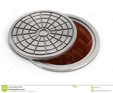 Manhole Cover Lid Stock Illustration