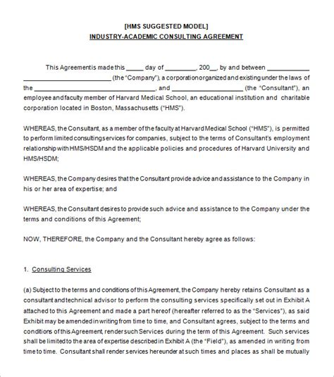 simple consulting agreement template rota template
