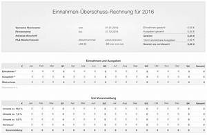 Einnahmen überschuss Rechnung Beispiel : numbers vorlage einnahmen berschuss rechnung e r 2016 ~ Themetempest.com Abrechnung