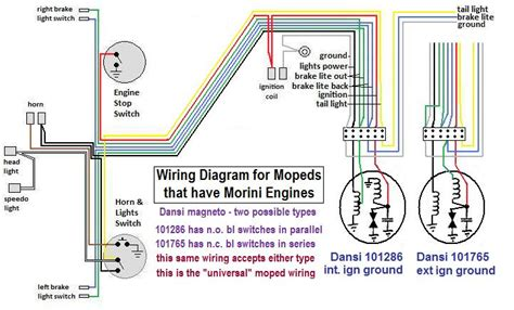 Moped Ignition Switch Wiring Diagram by Wiring Diagrams 171 Myrons Mopeds