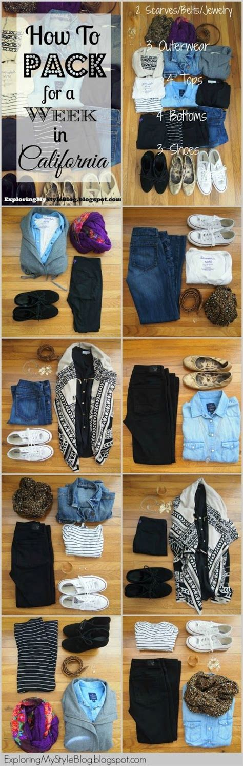 What To Pack For A Week In California Winter How To Pack