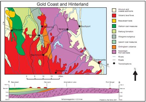 Geological Maps Show Geological History Of The Gold Coast