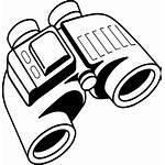 Binoculars Clip Coloring Spy Clipart Clker