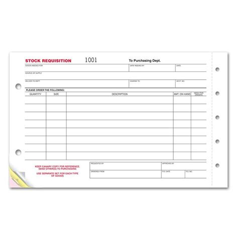 stock requisition form designsnprint