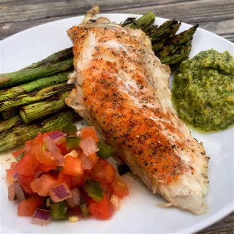grouper grilled weebly asparagus cilantro chimichurri smoked spiced