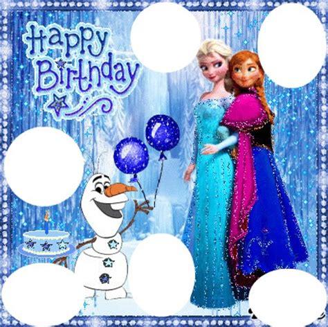 joyeux anniversaire reine des neiges montage photo reine des neiges anniversaire pixiz