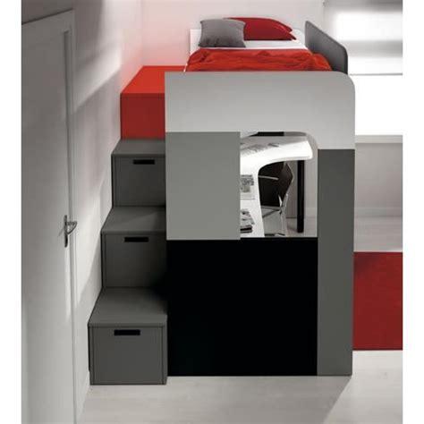 lit et bureau lit avec rangement pas cher maison design bahbe com