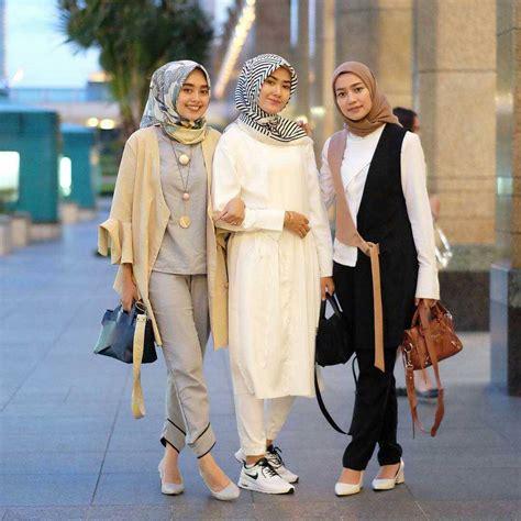 16 Koleksi Fashion Hijab Remaja 2018 Gaya Masa Kini Lagi Trend