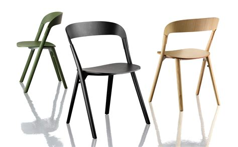 pila stackable chair wood black by magis