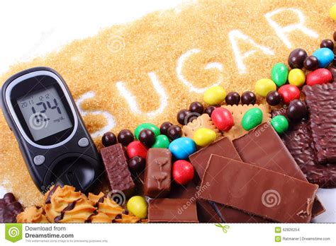 glucose cuisine glucometer brown sugar and a lot of stock