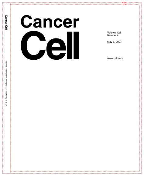 Cancer Cell Cover Template cell press cancer cell