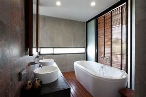 gallery of w house idin architects 23 With salle de bain couleur pastel